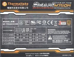 Thermaltake model: SP750AH3CCB (seria Smart M750W)- znika 5VSB