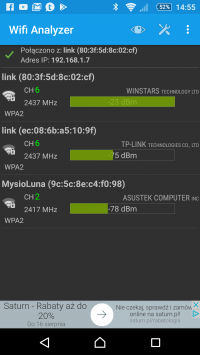 The correct configuration of the wifi router and repeater