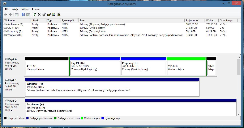 Windows 8 - zmiana partycji systemowej - elektroda.pl