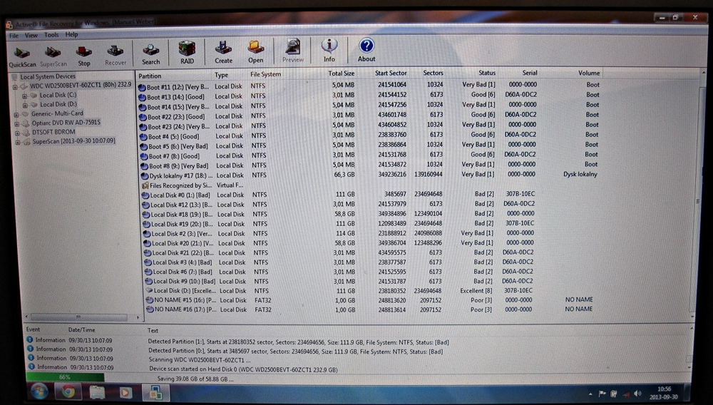 Compaq CQ60 Dysk 250Gb - Jak przywr�ci� dane z dysku D po instalacji Windowsa 7
