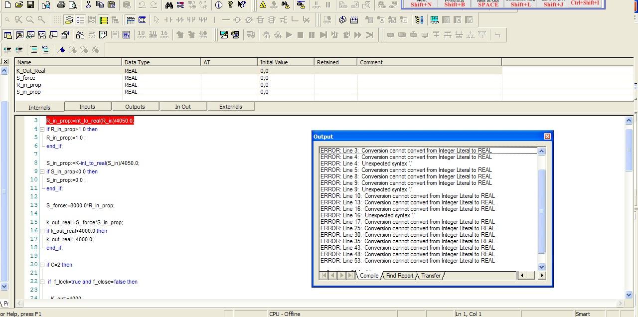 Omron CJ2H - kompilacja programu w programie CX Programmer