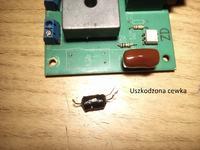 Stroboskop 1500W uszkodzona cewka