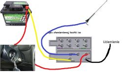 opel cube iso - power supply key switch and battery