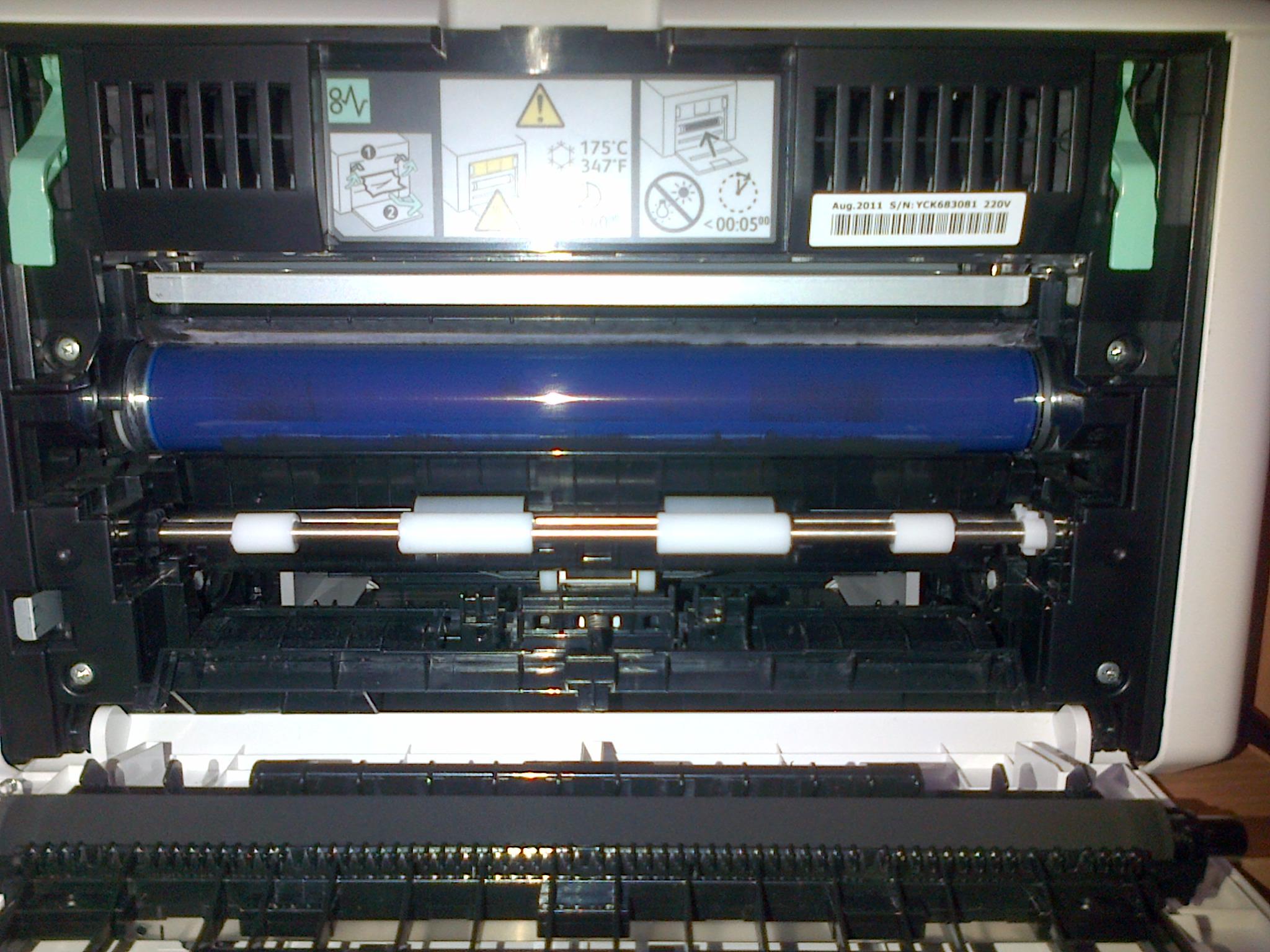 Как достать бумагу из принтера phaser 3010