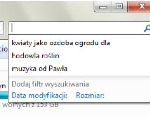 Wy��czenie zapami�tywania wyszukiwanych fraz w eksploratorze Windows 7
