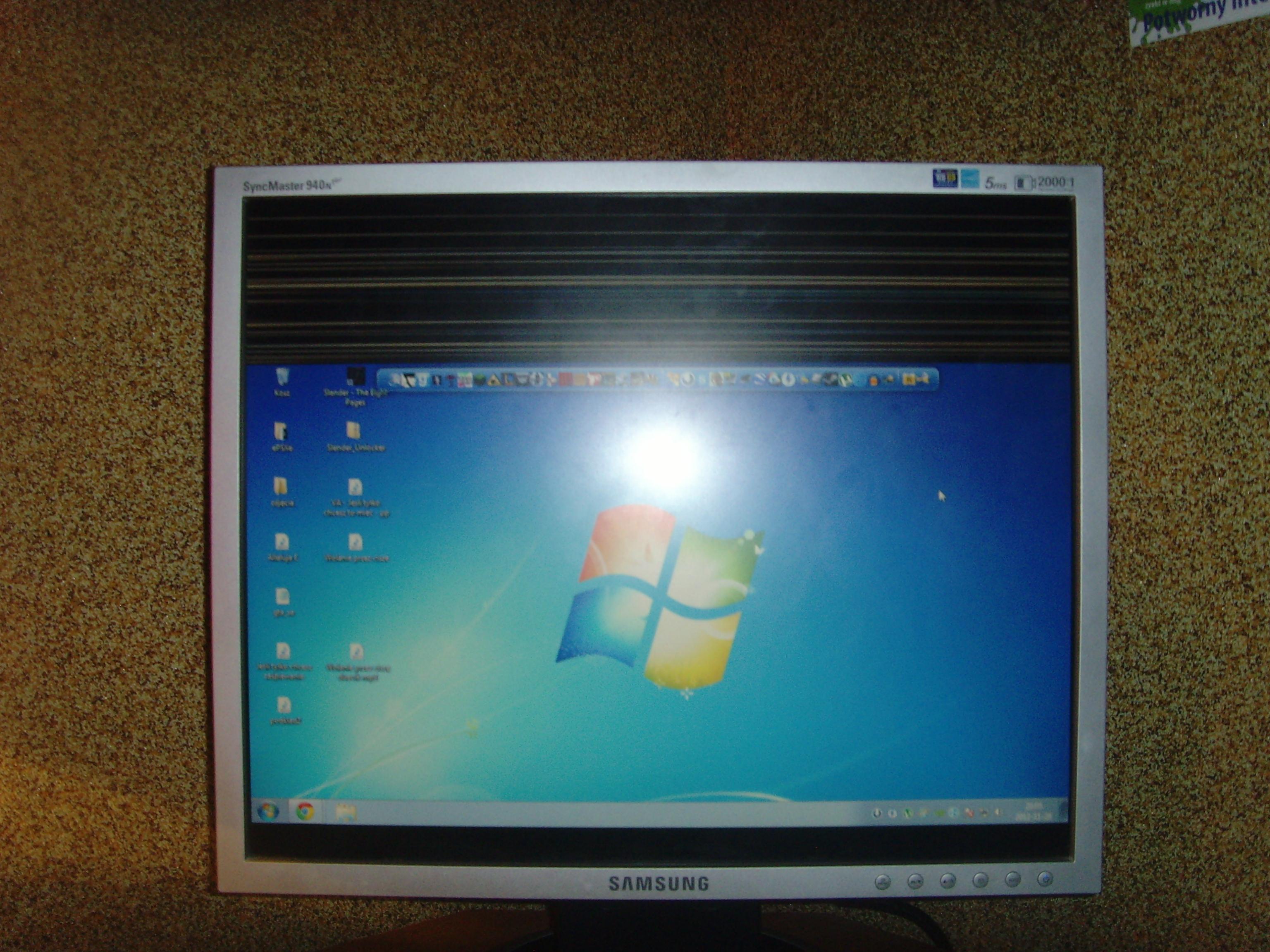 Monitor - Problem z monitorem Samsung SyncMaster 940n PLUS (czarny pas)