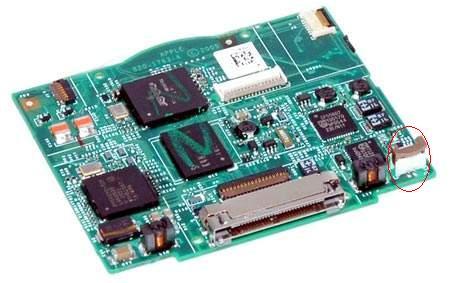 IPOD 5g 30 gb Classic - uszkodzone gniazdo baterii