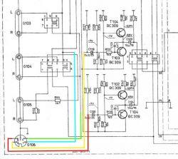 WS354a - podłączenie korektora do wzmacniacza