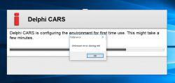 Delphi autocom 2015 r3 - Unknown error during init