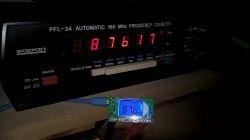 Transmiter UKF FM 0,1 W z Aliexpress, bardzo krótko