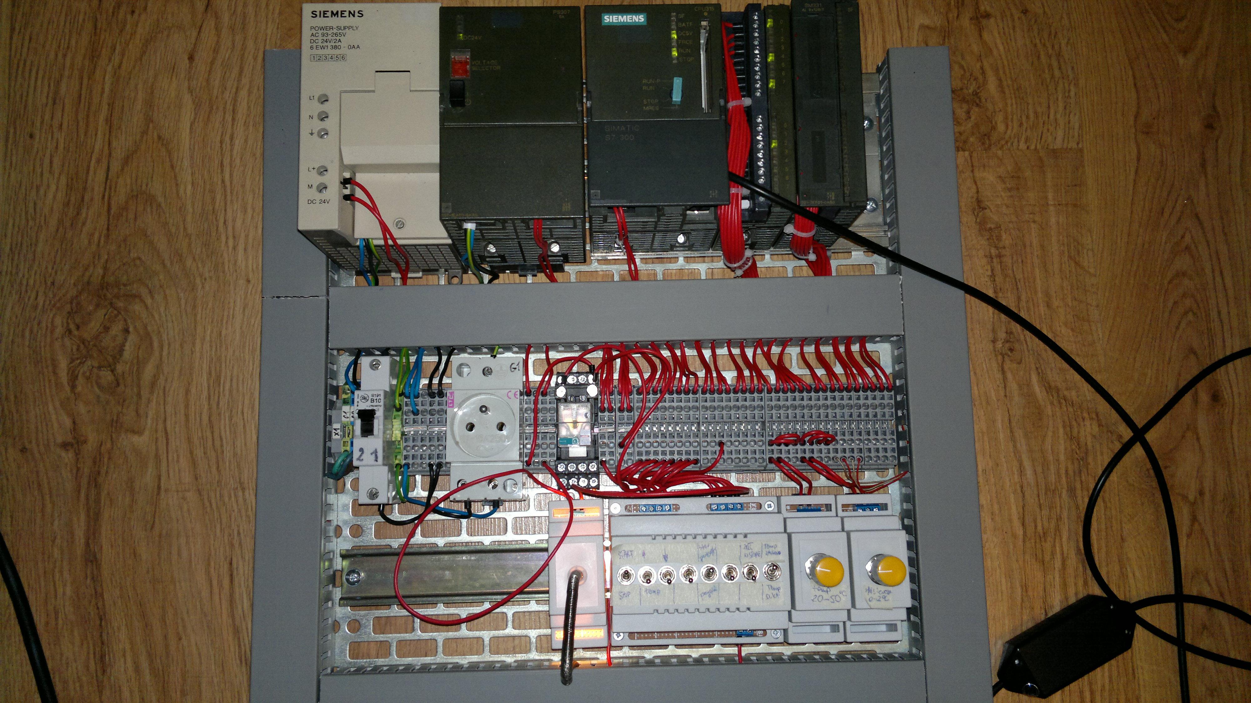 s7-300 Obiekt cieplny - praca dyplomowa