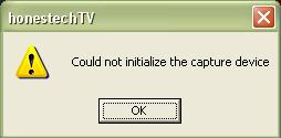 Problem z programem honestech TVR - tuner medion 7134.