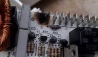 Whirlpool awg 879 - przypalony styk sterownika/ zwarcia w obwodzie