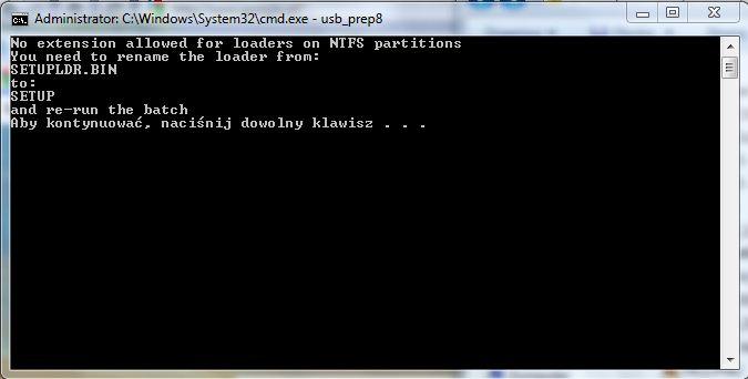 Instalacja Windows XP z pendrive(nie bootuje)