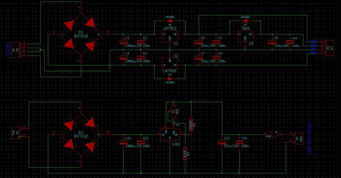 Zasilacz +12V, +5V, -5V - dob�r transformatora
