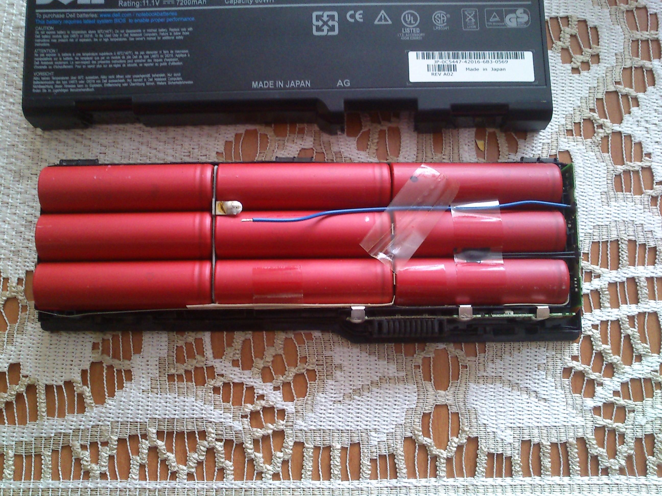 Dell XPS M1710 - Regeneracja baterii