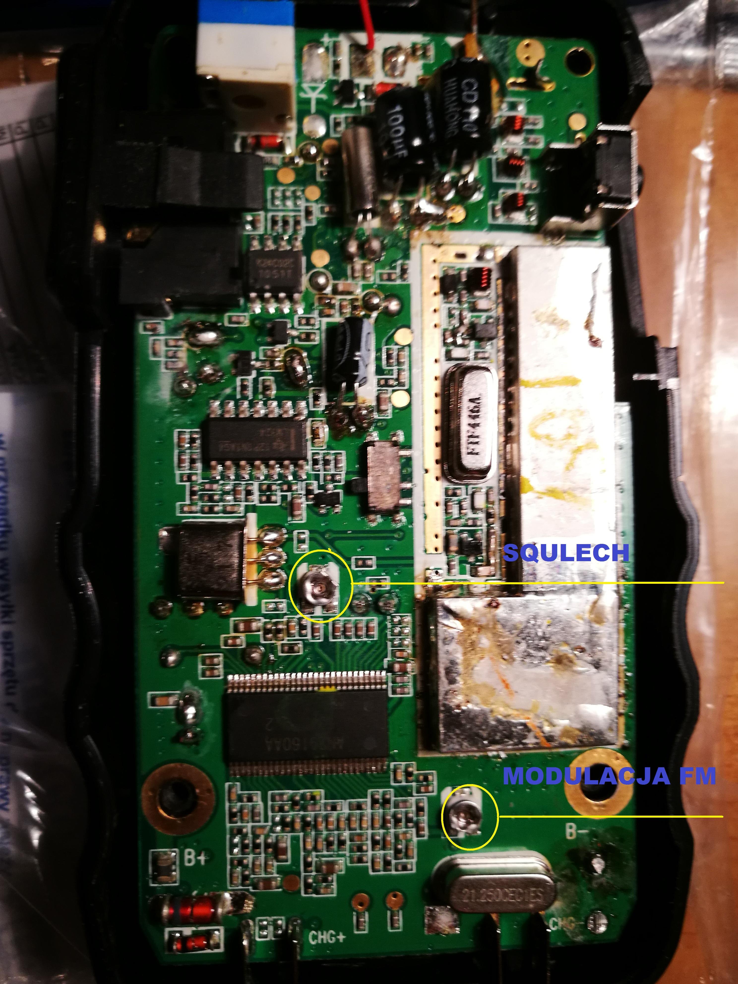 W Ultra Maxcom WT 350 - szumi, zaciął się w trybie odbioru RX EG98
