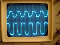 Oscylogramy ze wzmacniacza lampowego do gitary