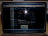 Problem z ekranem | Szerokie pionowe pasy | Toshiba Sat P100