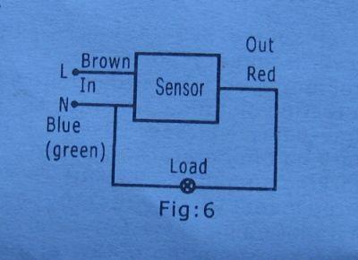 Podłączenie czujnika ruchu do lampy halogenowej.