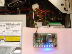 8-kanałowy chaser LED PWM na PIC16F628A.
