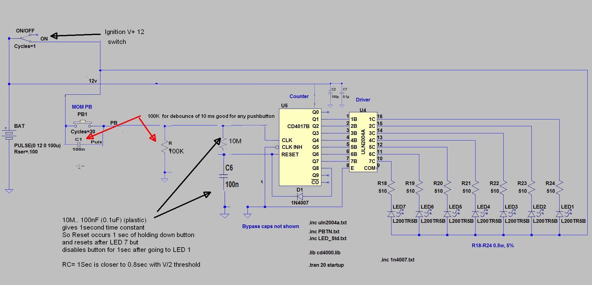 My 1st Project To Cycle Through 7 Leds With Push Button Page 2 Debounce Circuit Got It I See The Skinny Rat Corrected