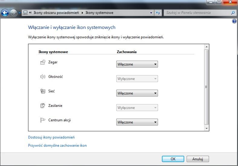 Windows 7 - Znika ikonka od regulacji g�o�no�ci.