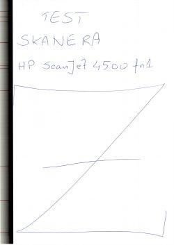 HP ScanJet 4500 fn1 - Czarny pasek na skanie kartki z ADF