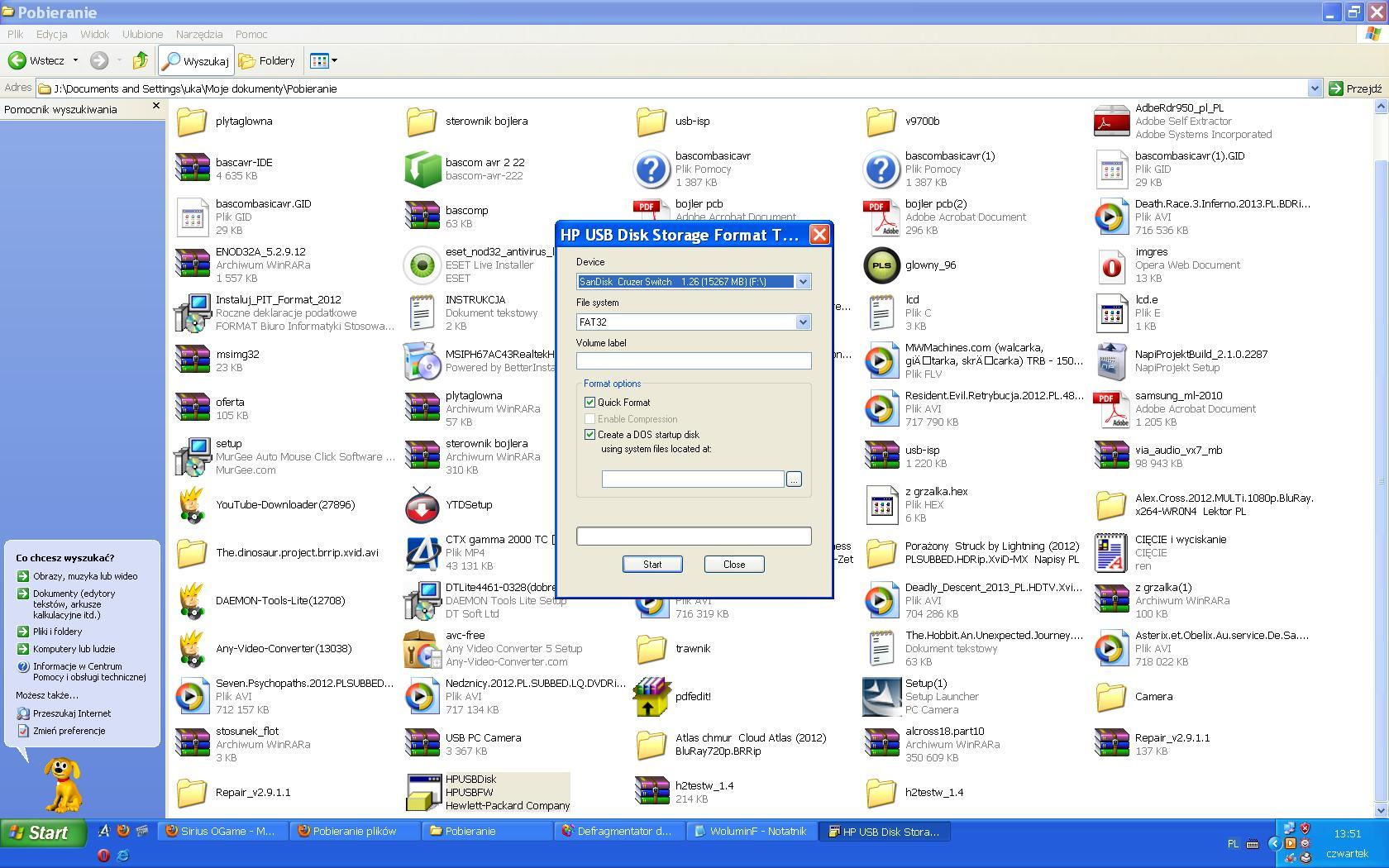 SanDisck 16 GB - Blokada ZAPISU ;)