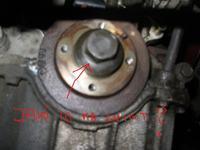 Wymiana paska rozrz�du, KIA Shuma/Mazda, demonta� nakr�tki na wale