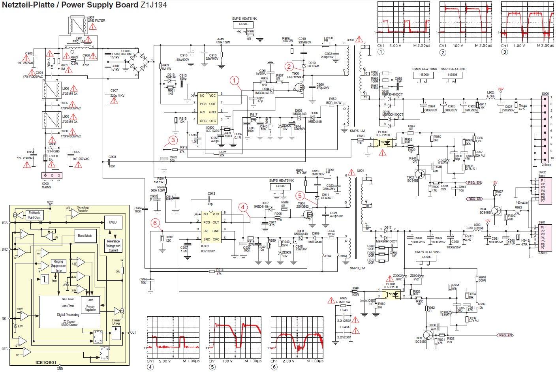 Grundig 32 LXW 82-8600DL - Brak 24V w zasilaczu Z1J194