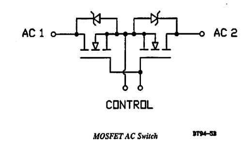 Mosfet AC switch - Drivery do mosfet�w w uk�adzie AC switch
