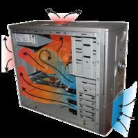 Lepsze chłodzenie CPU (schemat 3x FAN koncepcja) oc domowym sposobem