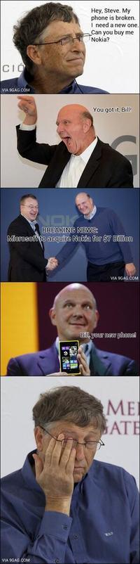 Microsoft kupuje Nokię za ponad 7 miliardów dolarów