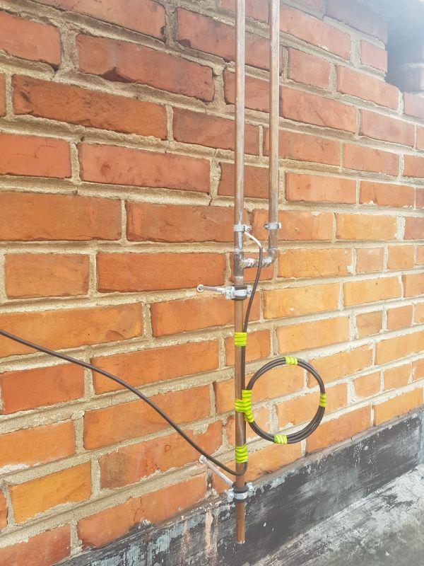 Antena J-pole nie działa tak jak powinna z Baofeng