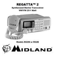 Midland Regatta-RG2W VHF Marine tranciever Manual EN