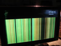 TV Samsung LE40A656A1F - pasy na ekranie (czasem działa poprawnie)