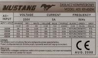 Mustang model: ATX KY-450W po wymianie diody S30SC4M na SBL3040PT...