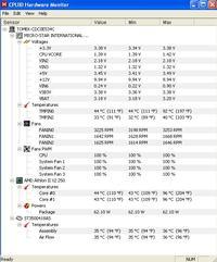 Nagły wzrost temperatury pracy komputera.
