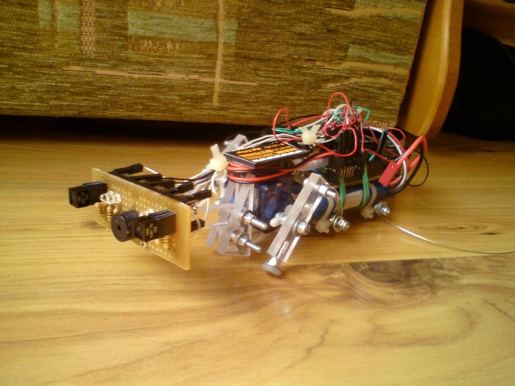 """""""Larwa"""" - ciekawy robot krocz�cy"""