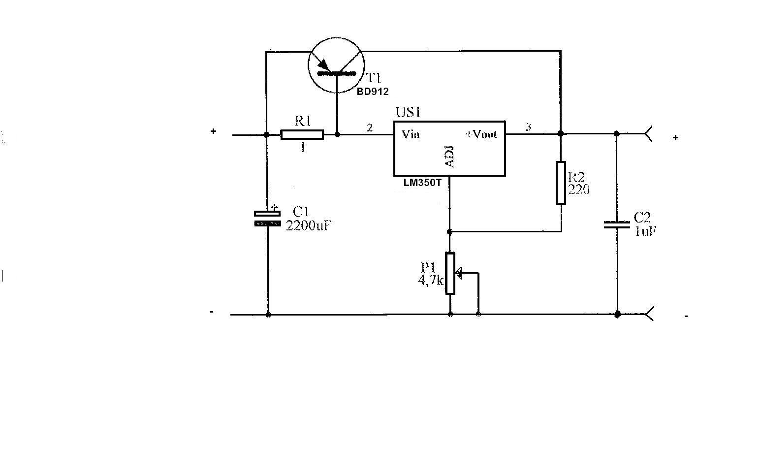 Zasilacz - stabilizator LM350 wytrzyma?