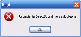 Brak d�wi�ku w windows XP - b��d Direct Sound