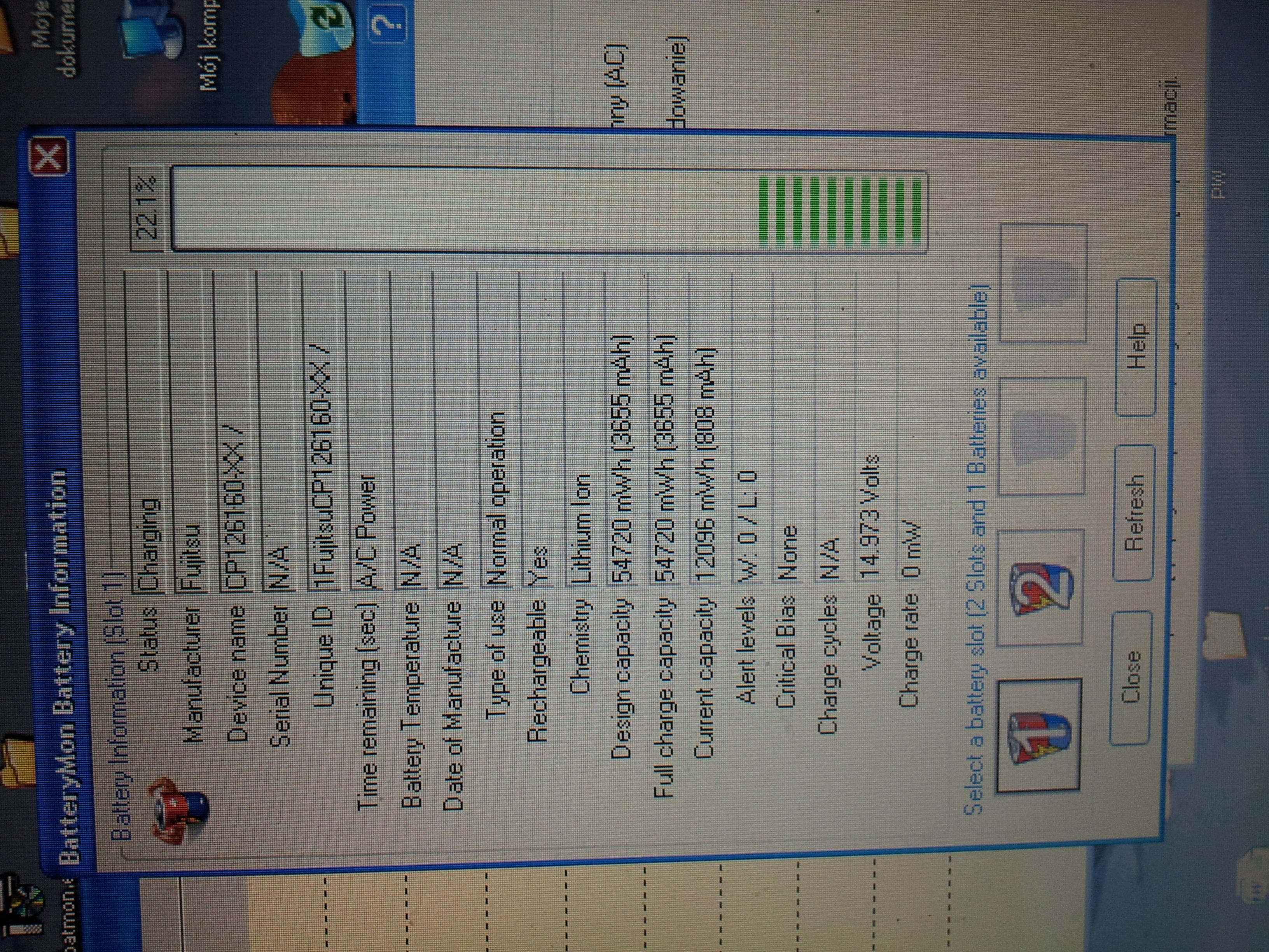 Fujitsu siemens C1110D, nie �aduje, nie pracuje na baterii