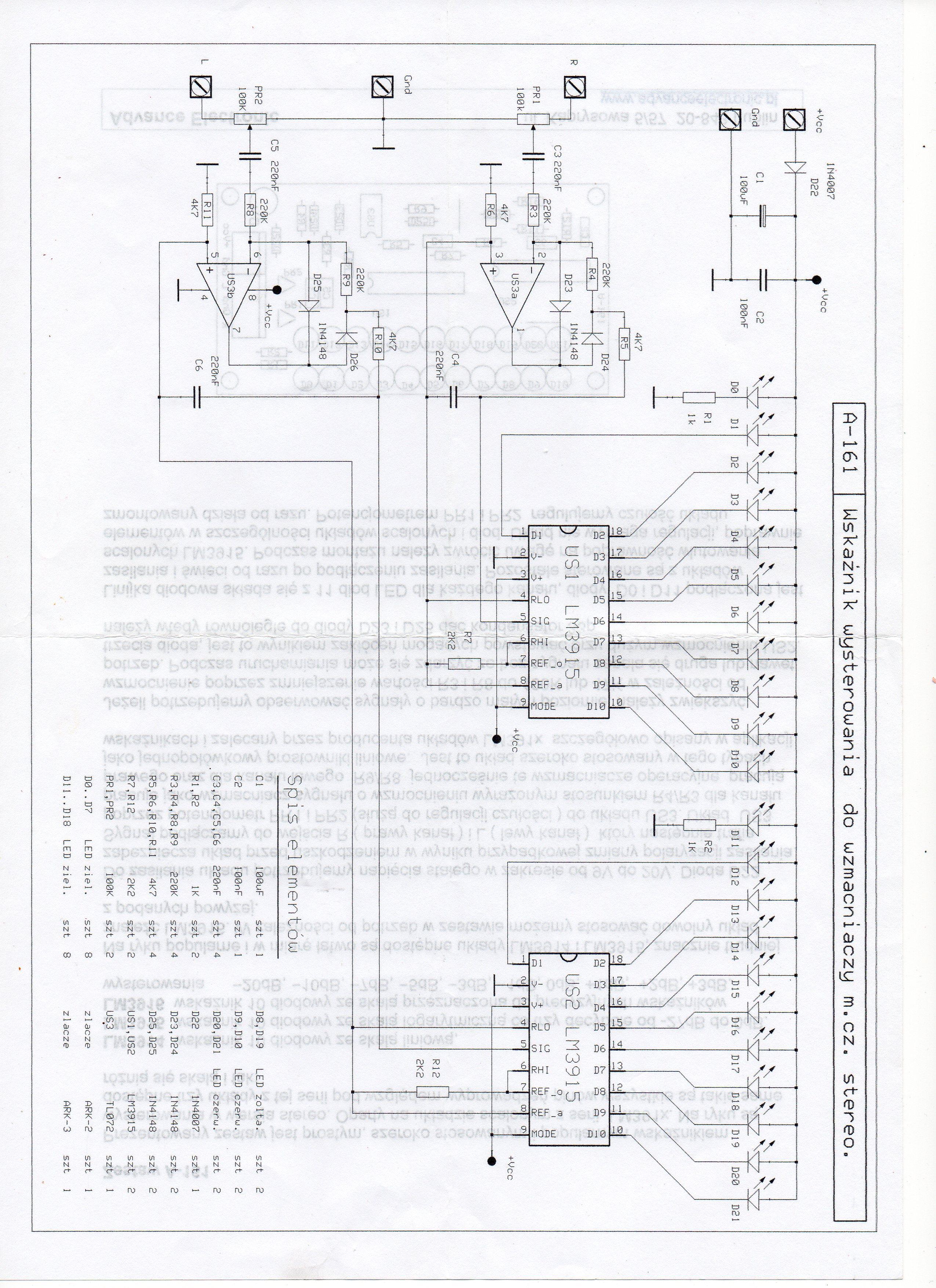 Uszkodzony TL072 w uk�adzie wska�nika wysterowania?