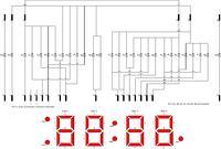 Podłączenie 30 pinowego, poczwórnego, 7 segmentowego wyświetlacza.