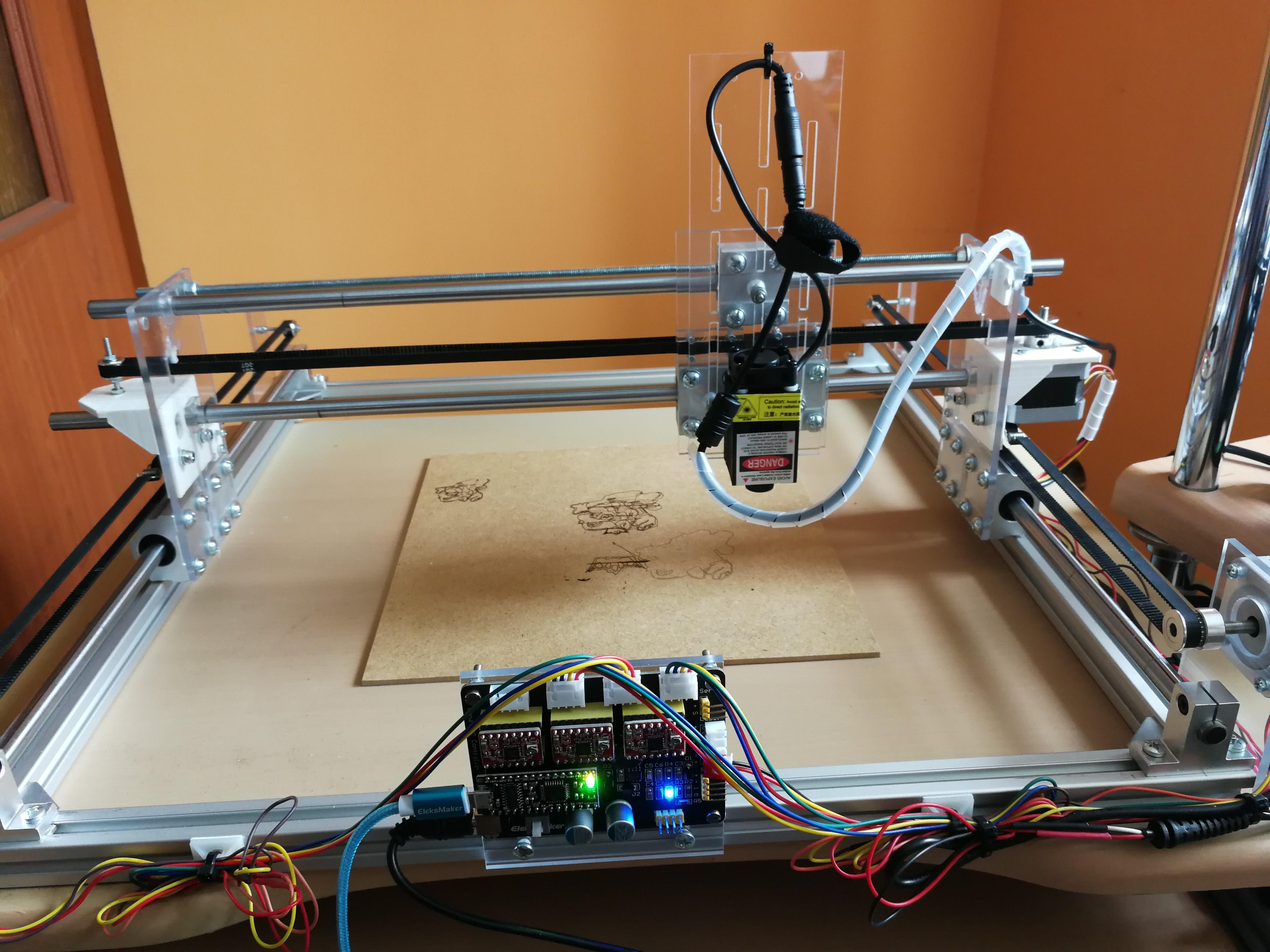 Fantastyczny Prosty ploter laserowy CNC o mocy 2,5W - elektroda.pl TU02