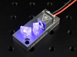 LAser DS-1000 Laserworld. Rozbieżnośćwiązki koloru niebieskiego
