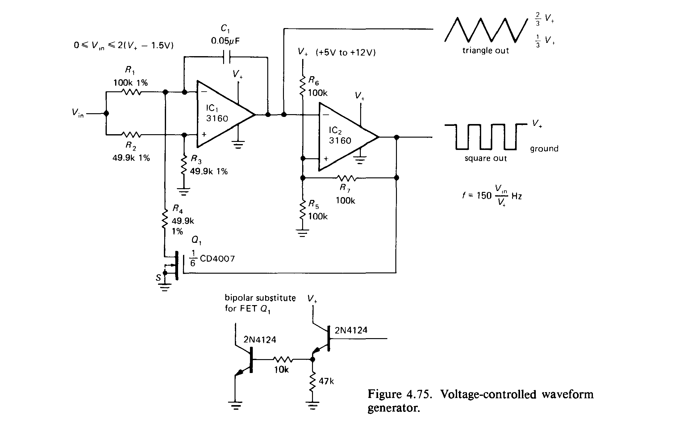 Solved Voltage To Frequency Conversion Solving Op Amp Circuit