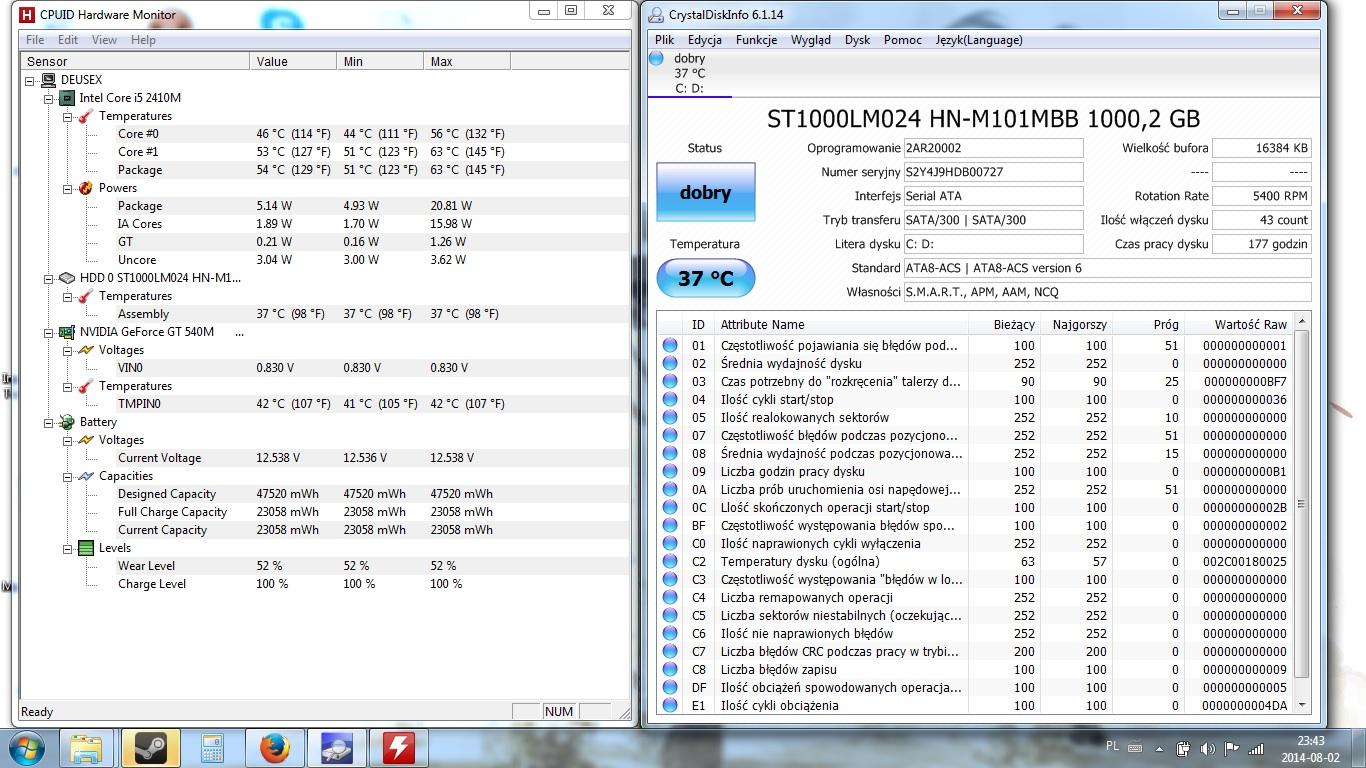 Acer Aspire 5750G - Cz�sty BSOD i zmiana ustawie� zegara systemowego.
