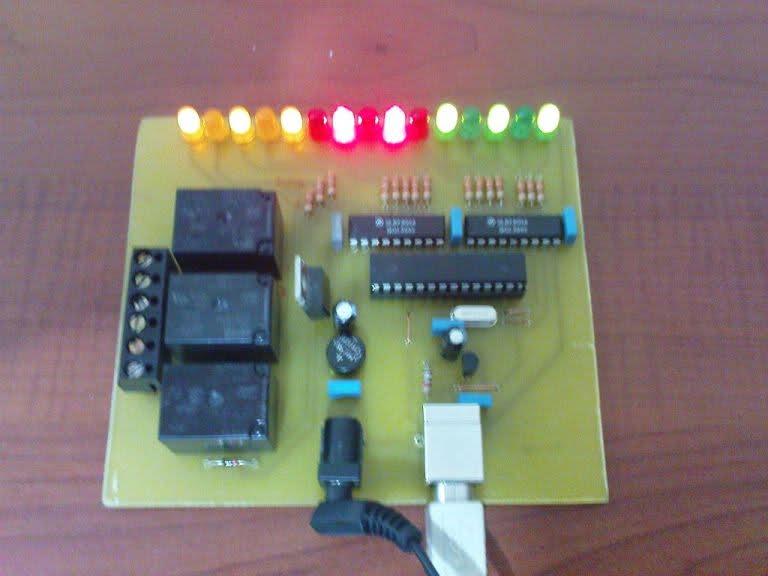 Tester pin�w I/O w Atmega8